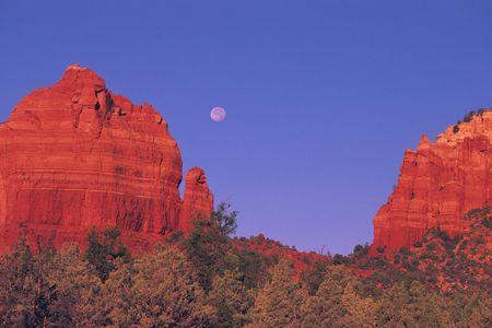 Sedona Arizona Red Rocks and Full Moon