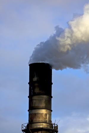 smoke stack: Polluting Smoke Stack