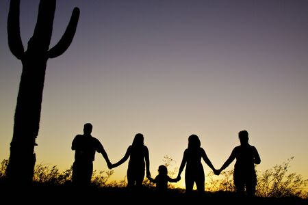 Family Togetherness in Arizona Sunset