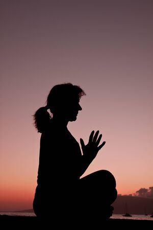 Meditation in the Sunset photo