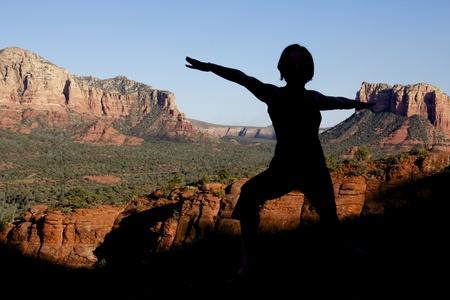 Yoga at Sedona Stock Photo - 10737425