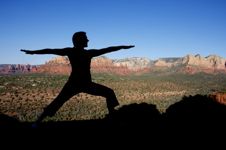 Yoga at Sedona Stock Photo - 10737424