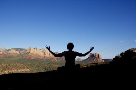 セドナのヨガ瞑想 写真素材
