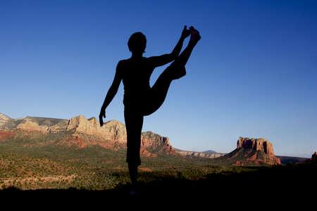 Yoga at Sedona Stock Photo - 10737422