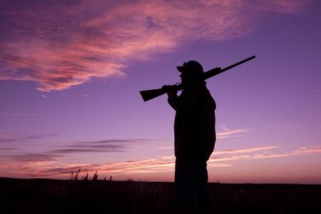 Upland Game Hunter in Sunrise photo