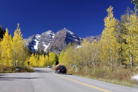Road to Maroon Bells in Fall photo
