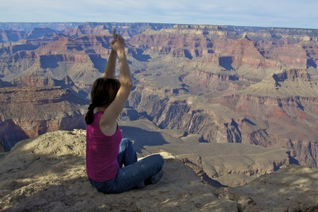 Yoga at Grand Canyon photo