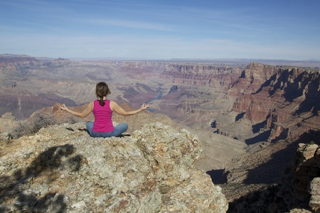 Grand Canyon Meditation Yoga Stock Photo - 11566725