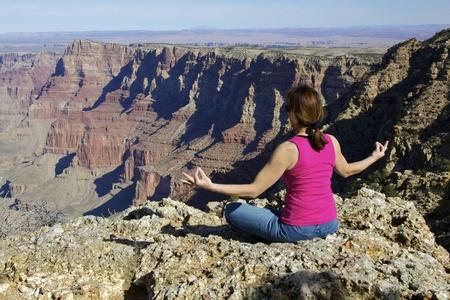 Yoga Meditation at the Canyon