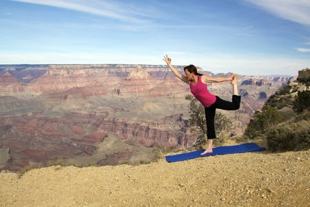 Yoga Pose at Grand Canyon photo