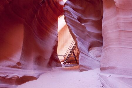 Lower Antelope Canyon and Ladder photo