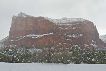 sedona: Winter in Sedona Stock Photo