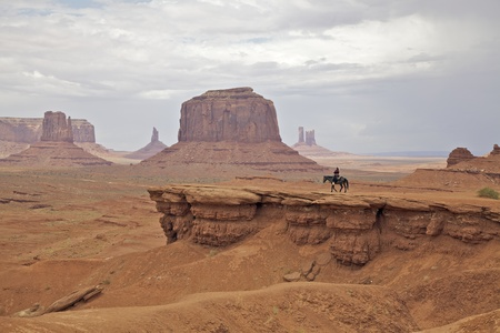 Horseback in Monument Valley photo