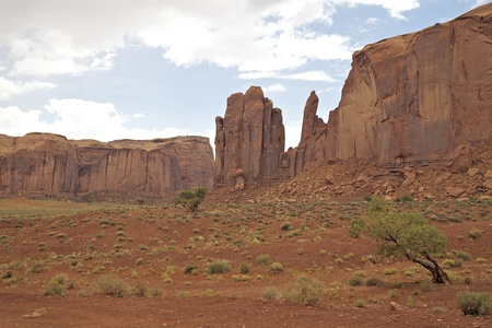 Monument Valley Landscape and Storm photo