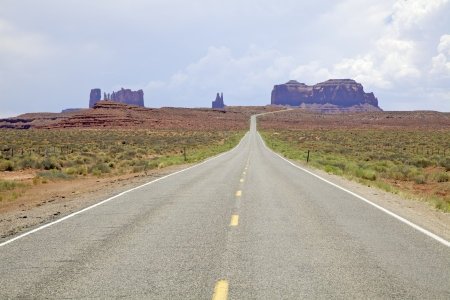 Approaching Monument Valley photo