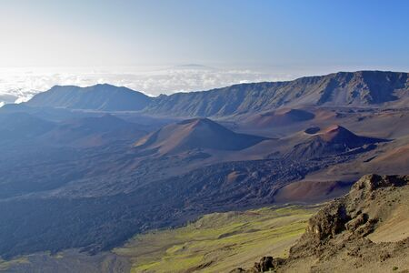 Haleakala Crater Landscape Maui photo
