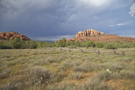 Monsoon Storms at Cathedral Rock Sedona Arizona Stock Photo - 14965449