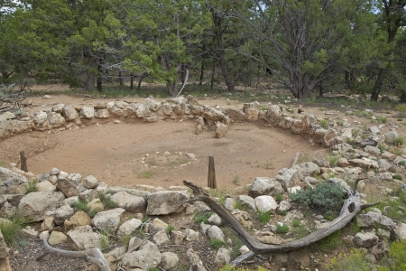 kiva: Tusayan Ruins Kiva Grand Canyon N P  Stock Photo