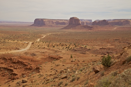 Road through Monument Valley photo