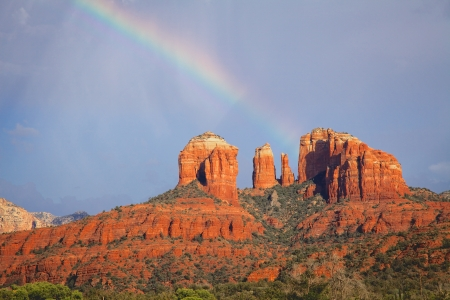 Cathedral Rock Rainbow photo