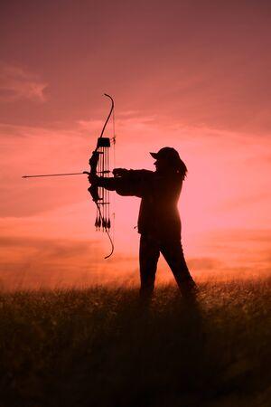 Archer in Sunset