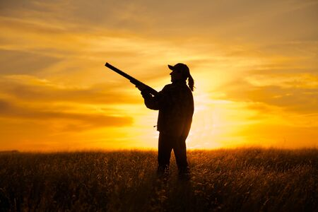 Bird Hunter in Sunset photo