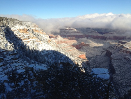 Grand Canyon winter scenic