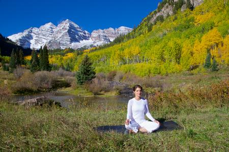Maroon Bells Meditation in fall