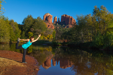 Yoga at Cathedral Rock photo
