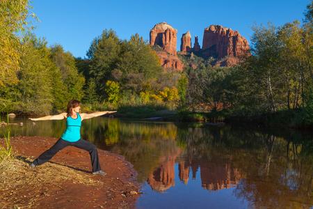 Yoga at Cathedral Rock Stock Photo - 23727686