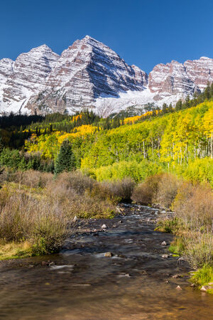 Maroon Bells in Autumn photo