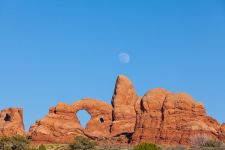 Moonrise at Arches N P  Utah photo