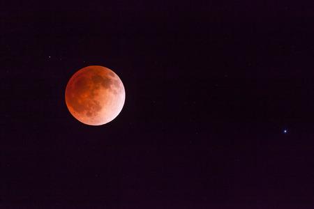 Blood Moon Von Mondfinsternis Standard-Bild - 27606246