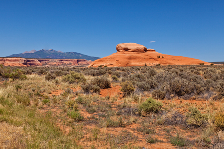 moab: LaSal Mountain Scenic Moab, Utah Stock Photo