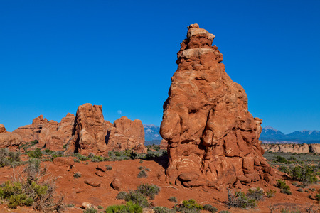 moab: Arches National Park Moab Utah Landscape Stock Photo