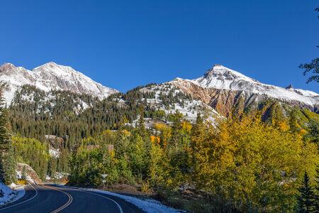 colorado mountains: Mountain Landscape in Fall