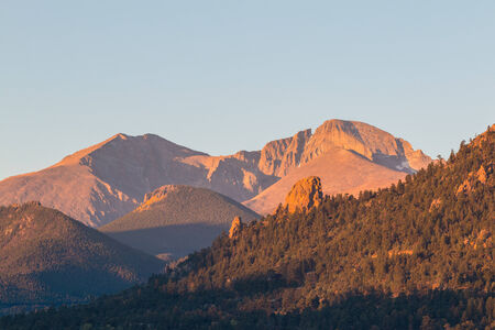 longs peak: Longs Peak Colorado at Sunrise
