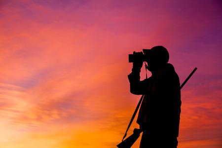 fusil de chasse: Hunter vitrage à Sunrise