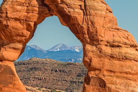View Through Delicate Arch Stock fotó