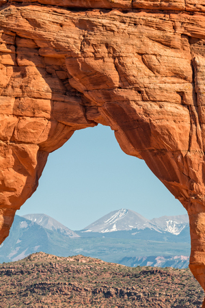 delicate arch: View Through Delicate Arch Stock Photo