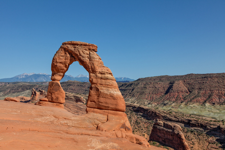 delicate: Delicate Arch Landscape Stock Photo