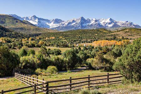 colorado rockies: Colorado Rockies in Fall Stock Photo