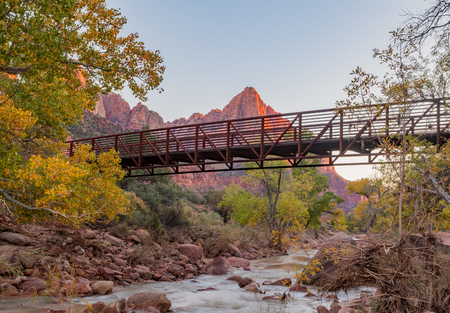 Zion National Park in Fall Stock Photo