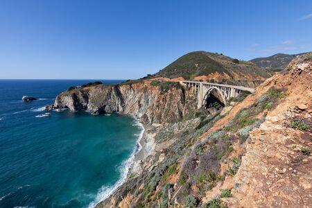 bixby: Bixby Bridge Big Sur California Stock Photo