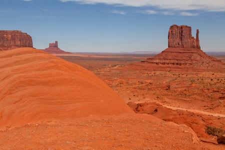 'southwest usa': Scenic Monument Valley Landscape Stock Photo