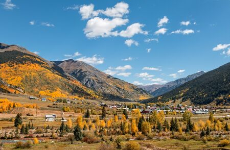 colorado landscape: Silverton Colorado Landscape in Fall