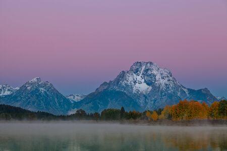 oxbow: Teton Sunrise Reflection Stock Photo
