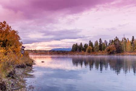 fall sunrise: Teton Fall Sunrise Reflection