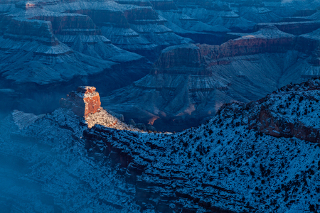 winter sunrise: Winter Sunrise Grand Canyon Stock Photo