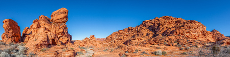 nevada: Valley of Fire Nevada Panoramic Stock Photo